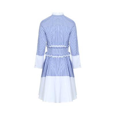 unbalance hem line shirt dress